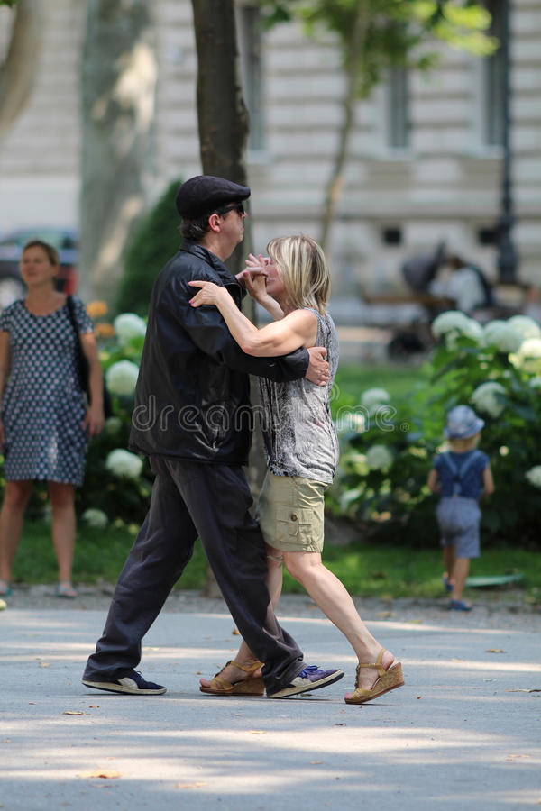 Zagreb, Croatia / Dancing In The Street royalty free stock photography