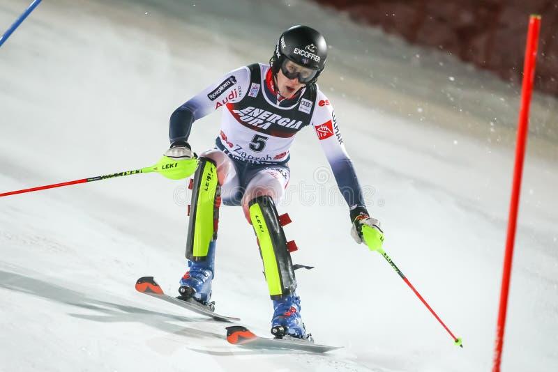 Audi Fis Ski World Cup 2020 Mens Slalom 2nd run stock images