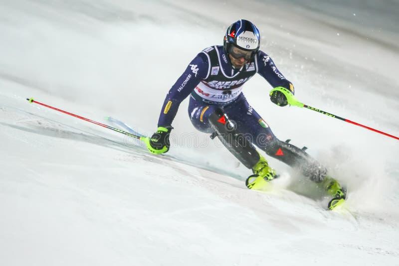 Audi Fis Ski World Cup 2020 Mens Slalom 2nd run stock image