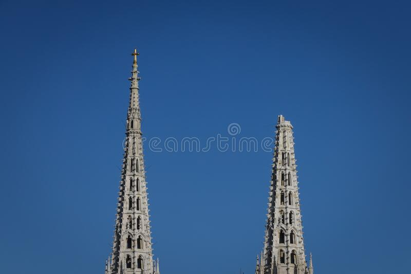 Zagreb hit by the earthquake damaged cathedral royalty free stock photography