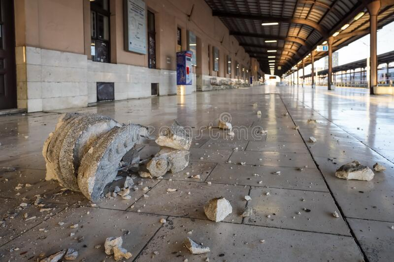 Zagreb hit by the earthquake royalty free stock photo
