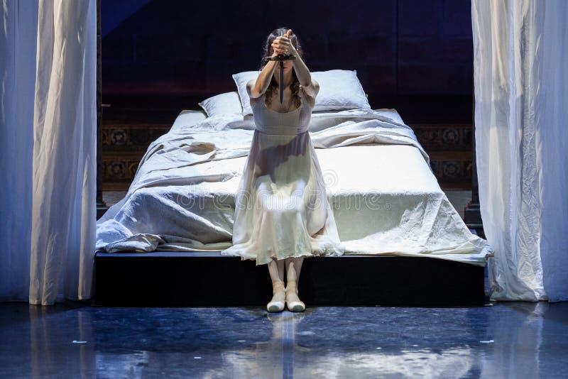 ZAGREB, CROATIE - 15 février 2018 Romeo et Juliet Ballet par image stock