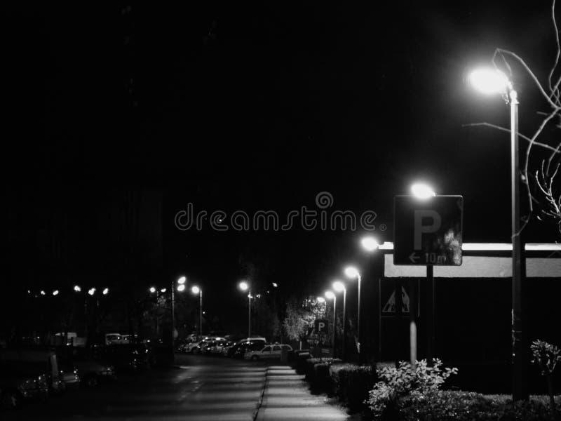 Zagreb de Night fotos de archivo