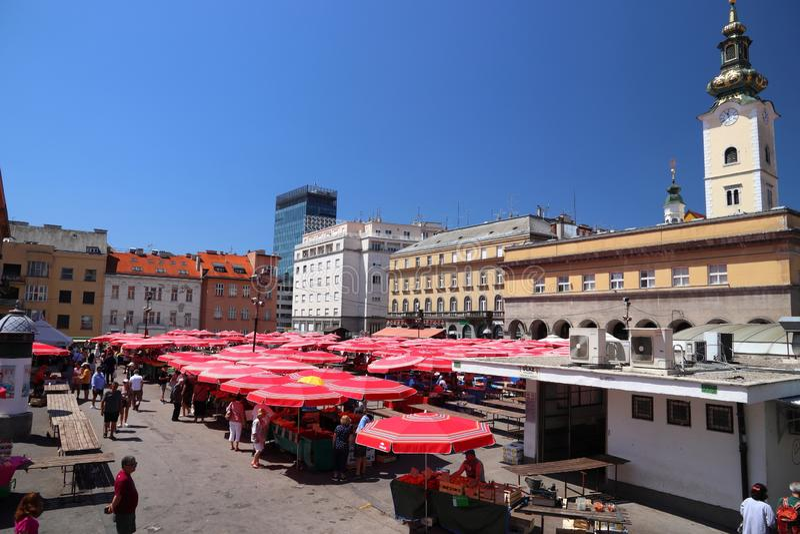 Zagreb Dolac market stock images