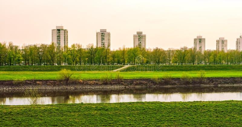 Zagreb-Fluss Sava lizenzfreie stockfotos