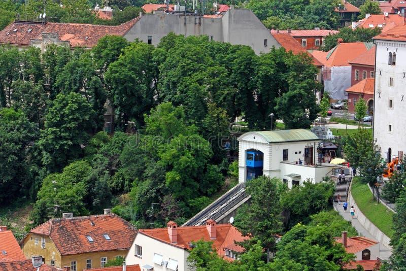 Zagreb funicular foto de archivo