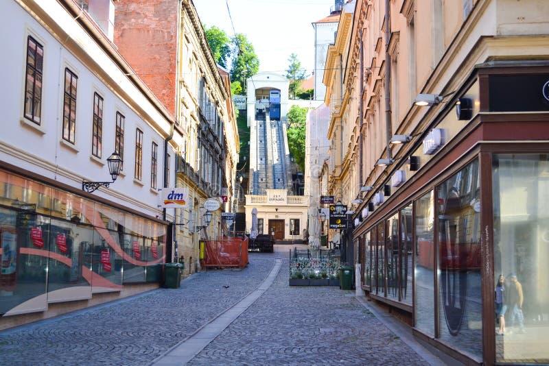 Zagreb funicular royalty free stock image