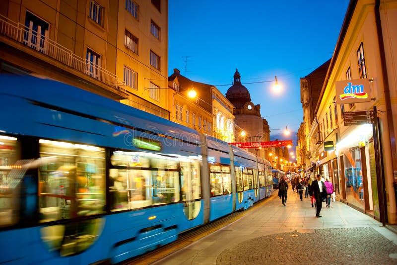 Zagreb gata royaltyfri fotografi
