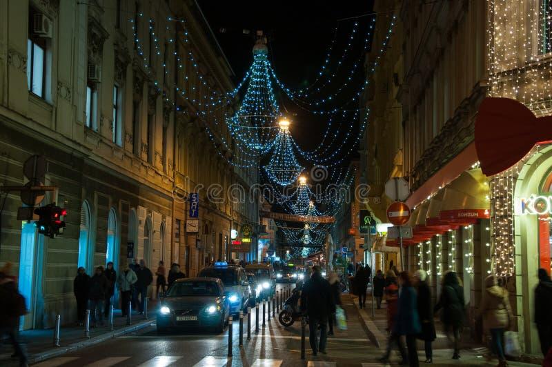 Zagreb julmarknad royaltyfria foton