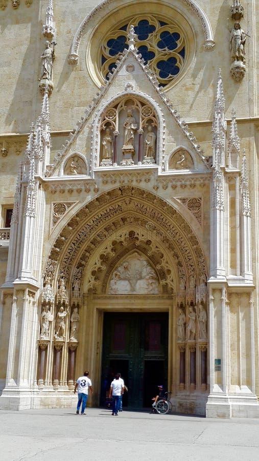 Zagreb katedra, Chorwacja fotografia royalty free