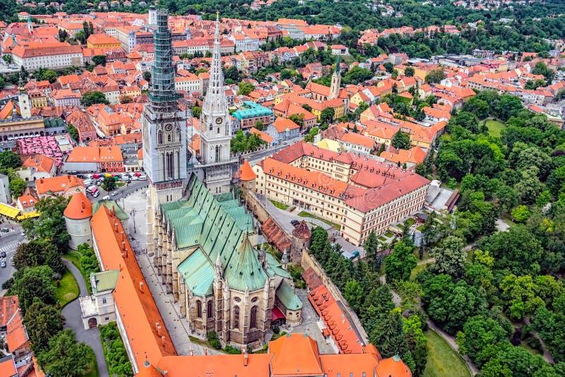 Zagreb katedra zdjęcia royalty free