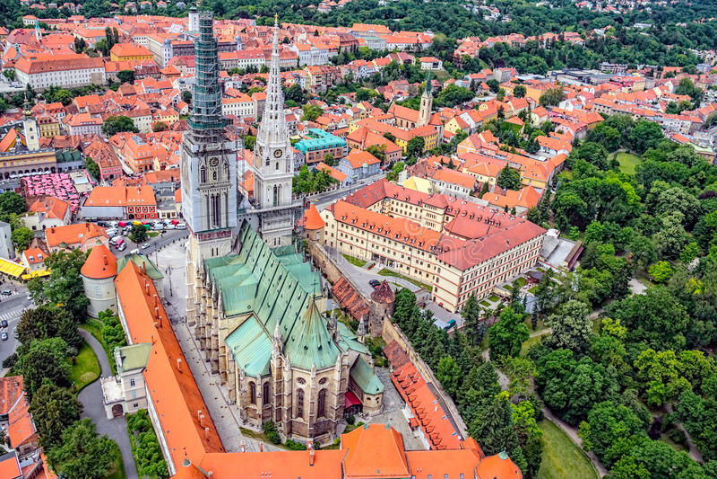 Zagreb-Kathedrale lizenzfreie stockfotos