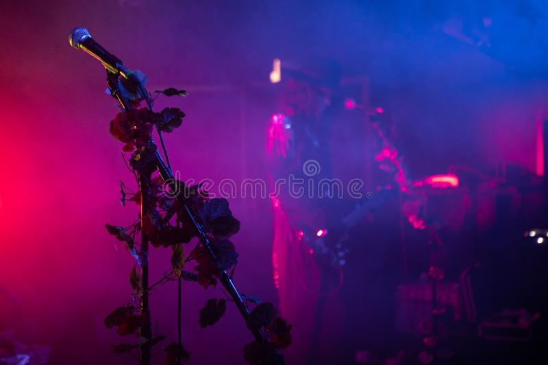 "Zagreb, Kroatië †""kan 30 2019 Overleg van cultus Gotische popgroep Christian Death in Zagreb stock fotografie"