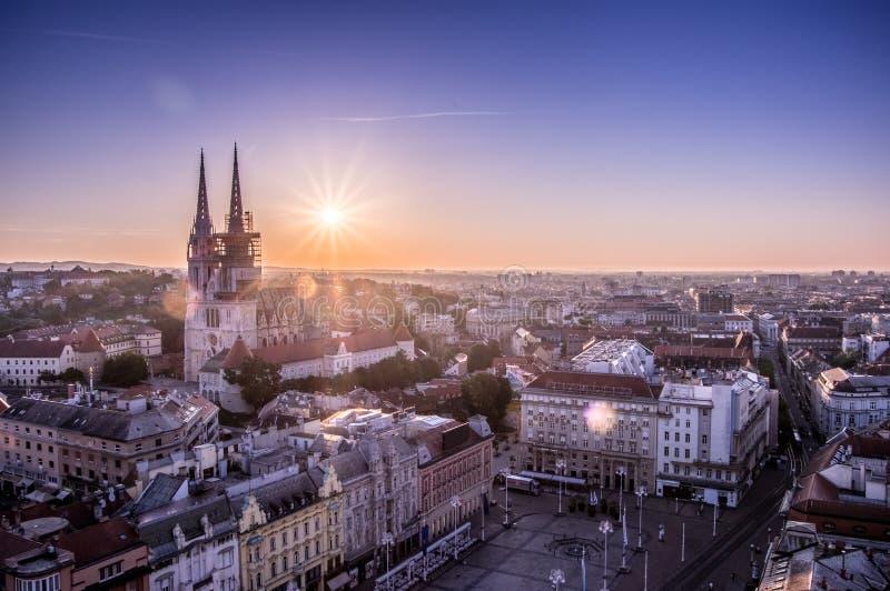 Zagreb Kroatië stock foto's