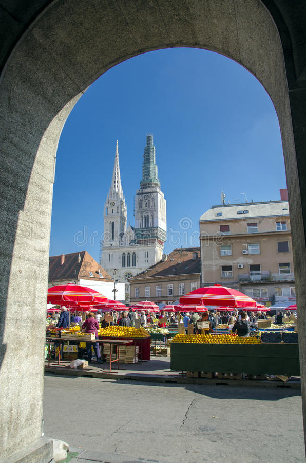 Zagreb, Kroatië stock foto's