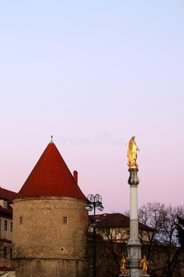 Zagreb Kroatien fotografering för bildbyråer