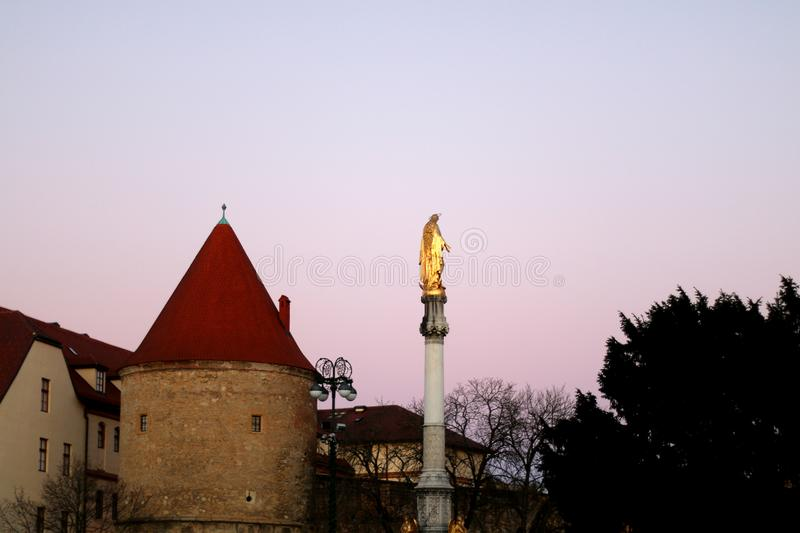 Zagreb Kroatien royaltyfri foto