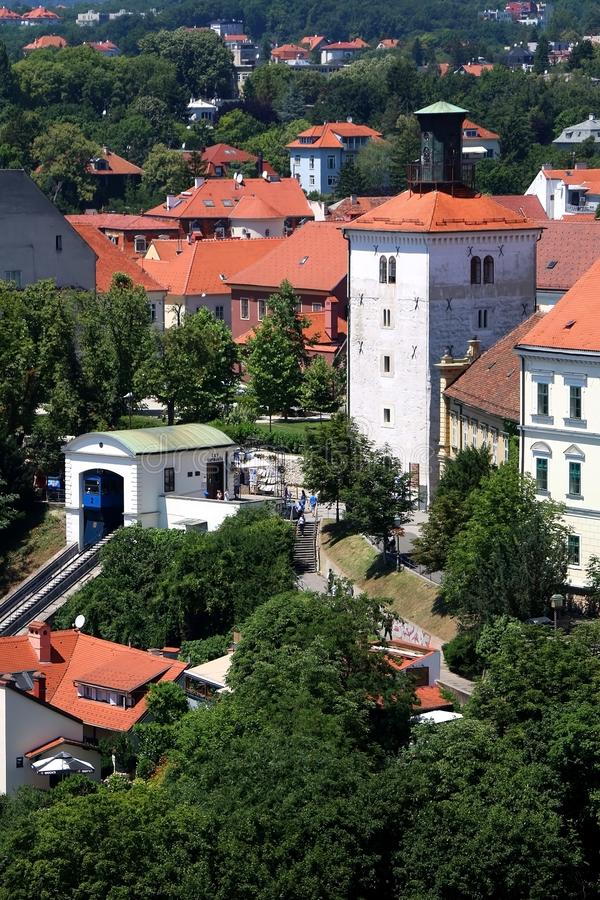 Zagreb Kroatien royaltyfri fotografi