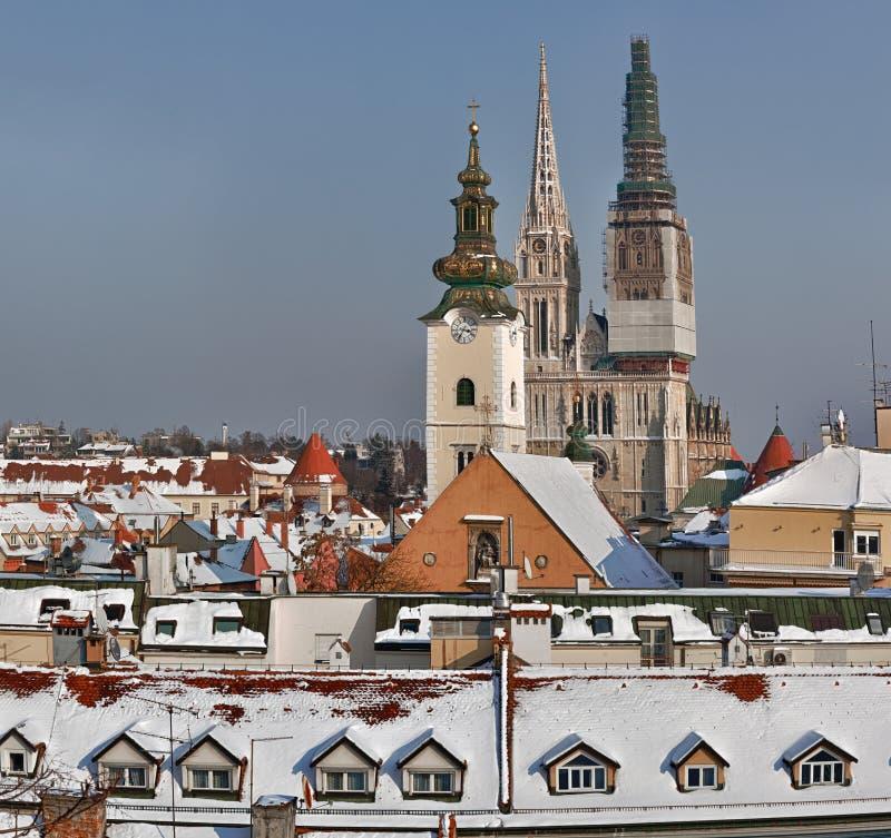 Zagreb - Kroatien stockfotos