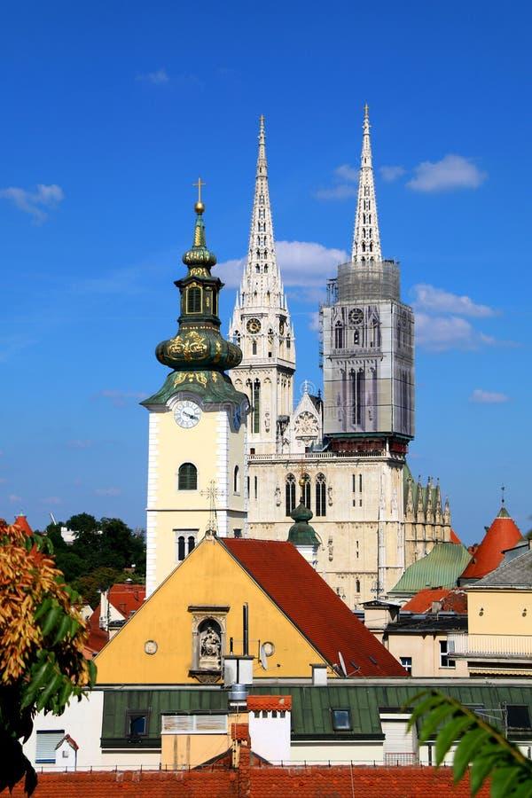 Zagreb, Kroatien stockbild