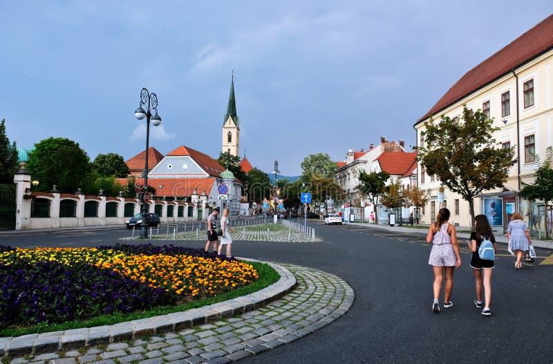 Zagreb, Kroatien, Ansicht zum Franziskanerkloster des Heiligen Franziskus von Assisi lizenzfreies stockfoto