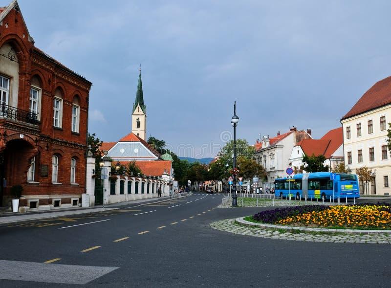 Zagreb, Kroatien, Ansicht zum Franziskanerkloster des Heiligen Franziskus von Assisi lizenzfreie stockfotos