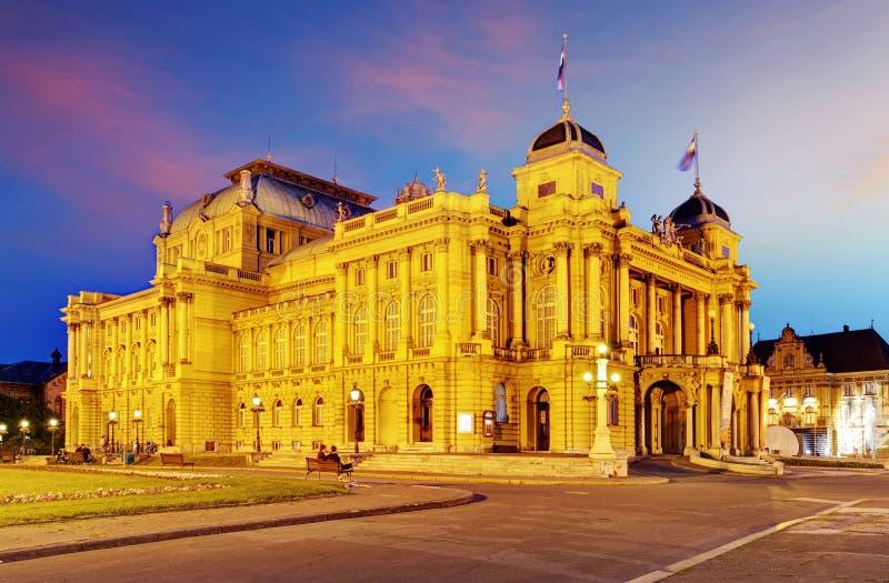 Zagreb - Kroatische Nationale Theate stock afbeeldingen