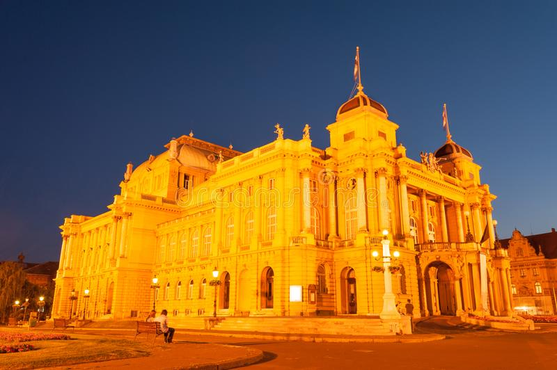 Zagreb National theatre royalty free stock images