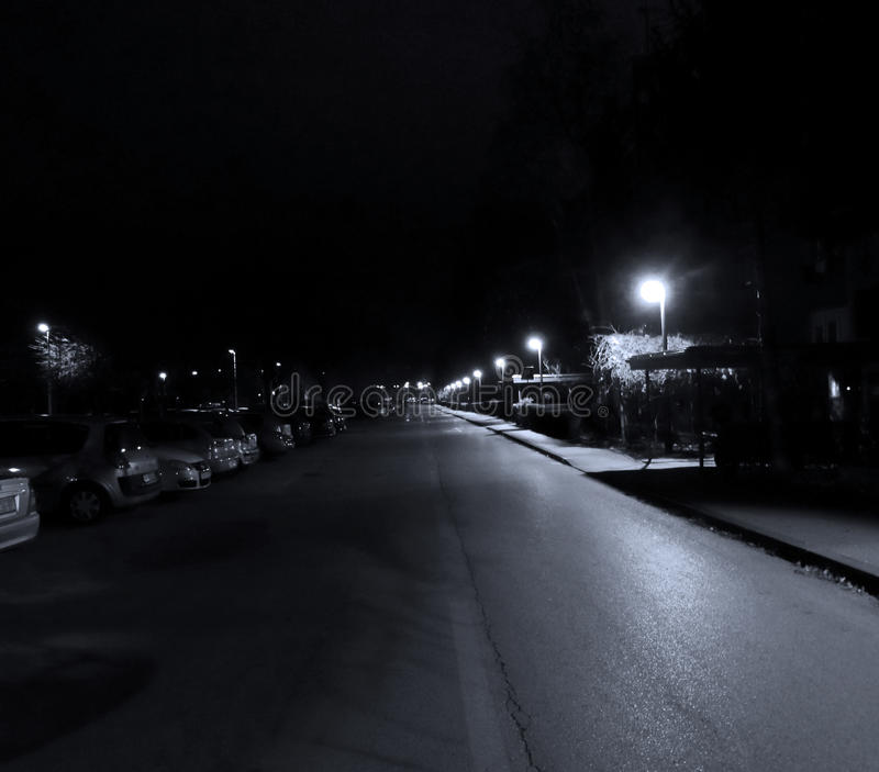 Zagreb by night royalty free stock photos