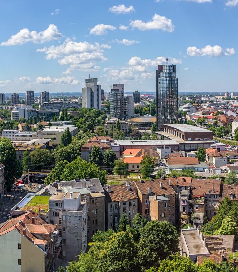 Zagreb, panorama foto de archivo