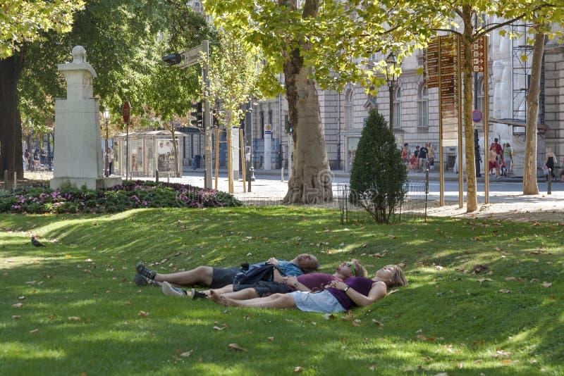 Zagreb-Park lizenzfreie stockfotos