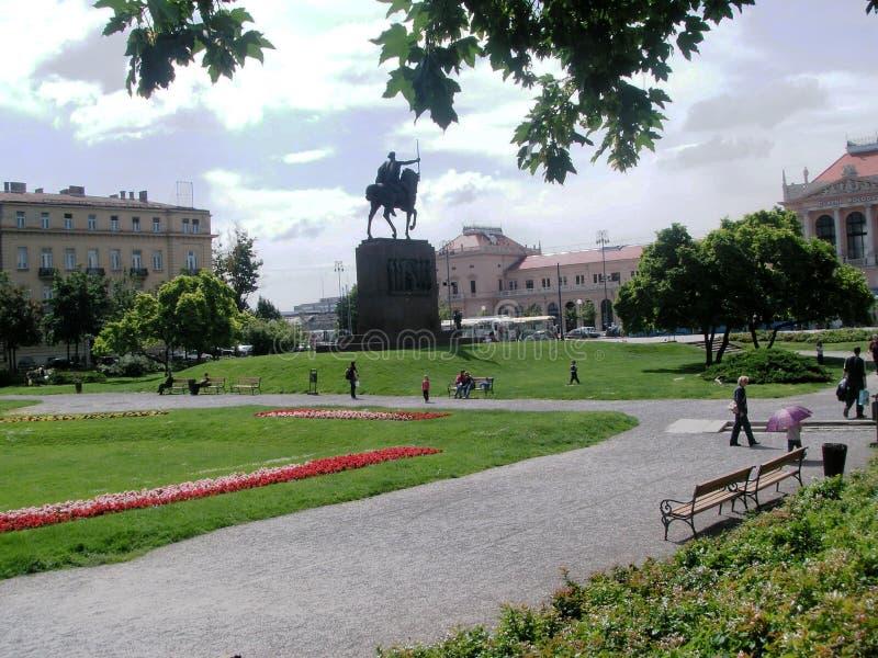 Download Zagreb: park Zrinjevac stock image. Image of relax, building - 864731