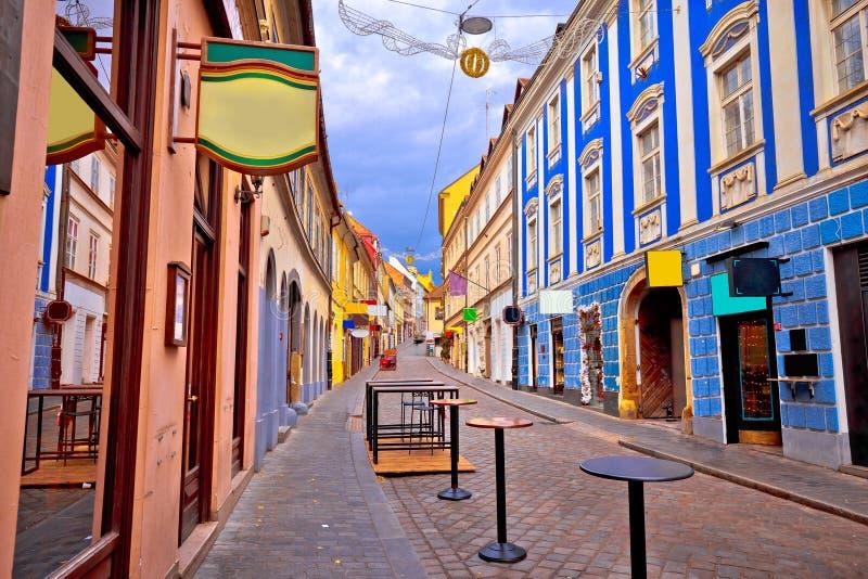 Zagreb Radiceva street advent view. Capital of Croatia royalty free stock photos