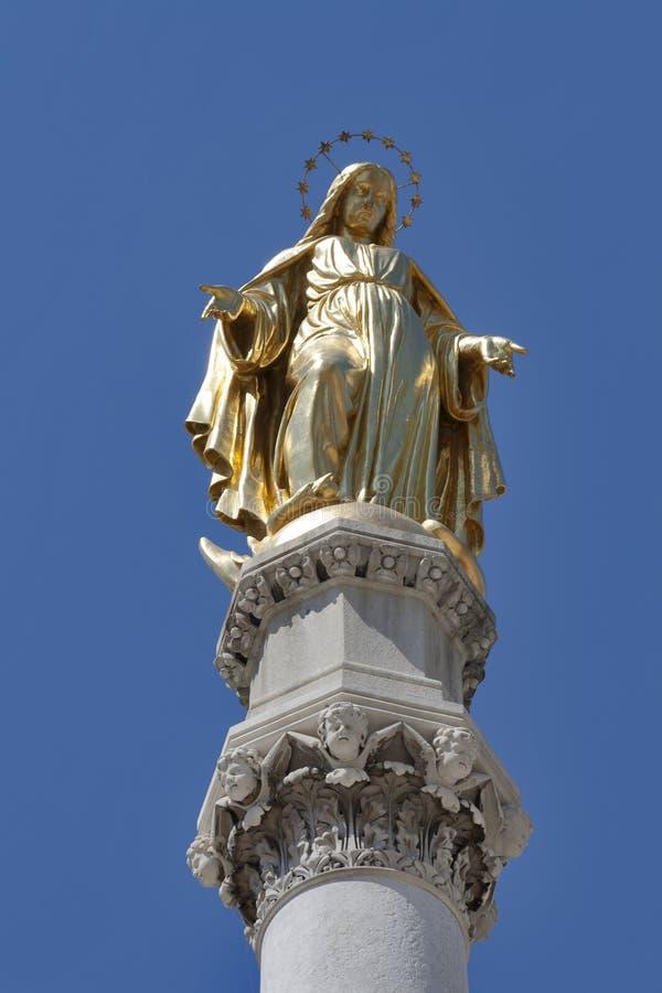 Zagreb statua obraz stock