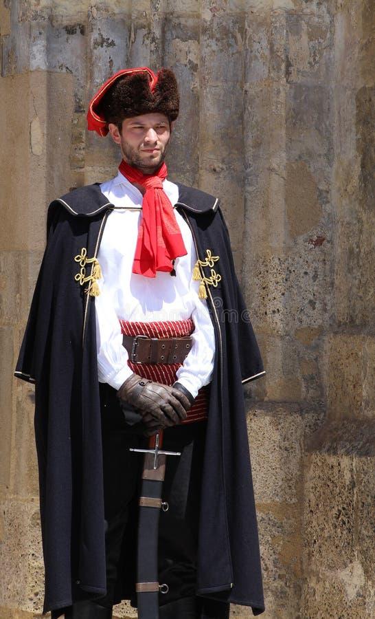 Zagreb turist- dragning/vakt Of Honor royaltyfria bilder