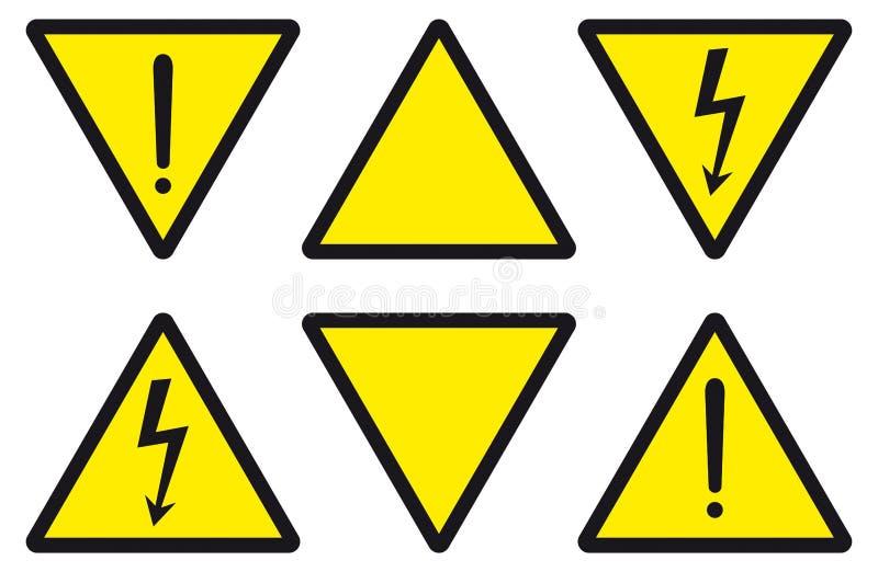 zagrożenia dla energii elektrycznej ostrożności royalty ilustracja