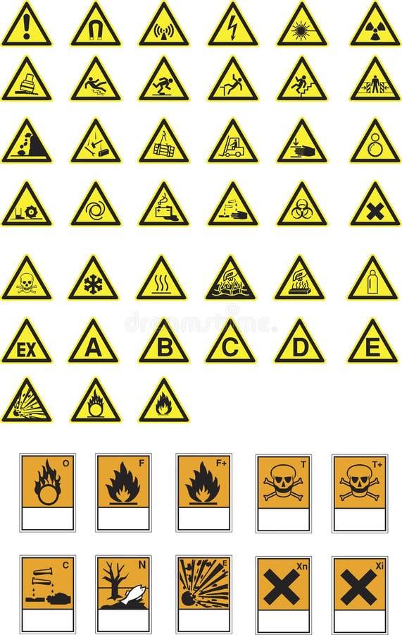 zagrożenia symboli/lów ostrzeżenia royalty ilustracja