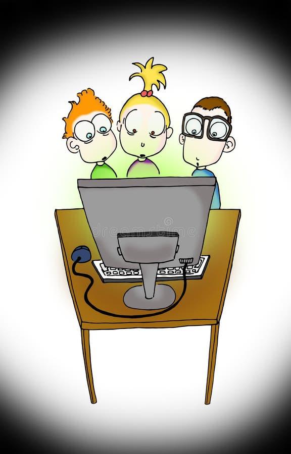 zagrożenie internety ilustracja wektor