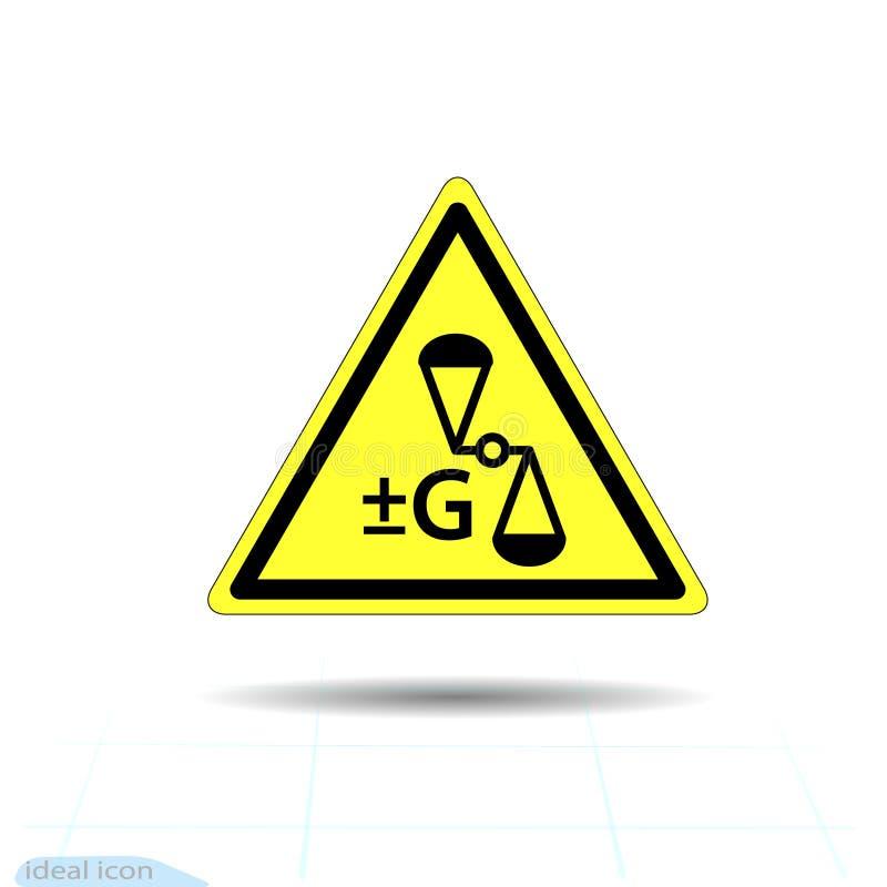 Zagrożenie ostrzega antego spoważnienie, zmiany spoważnienia znak Wektorowa ilustracja, EPS10 Antigravity ilustracji