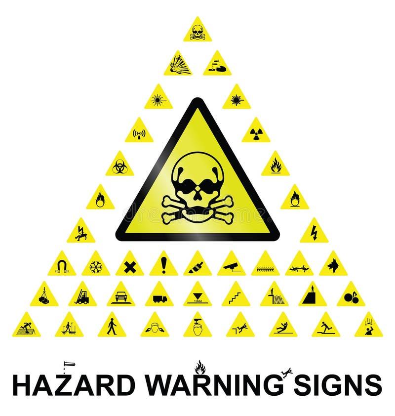 zagrożenie podpisuje ostrzeżenie ilustracji