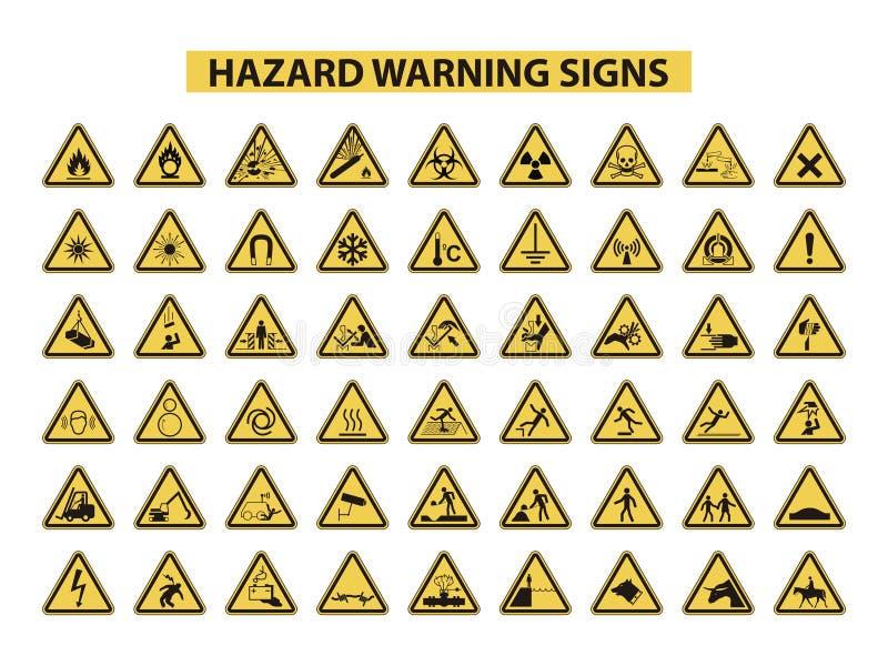 zagrożenie podpisuje ostrzeżenie royalty ilustracja