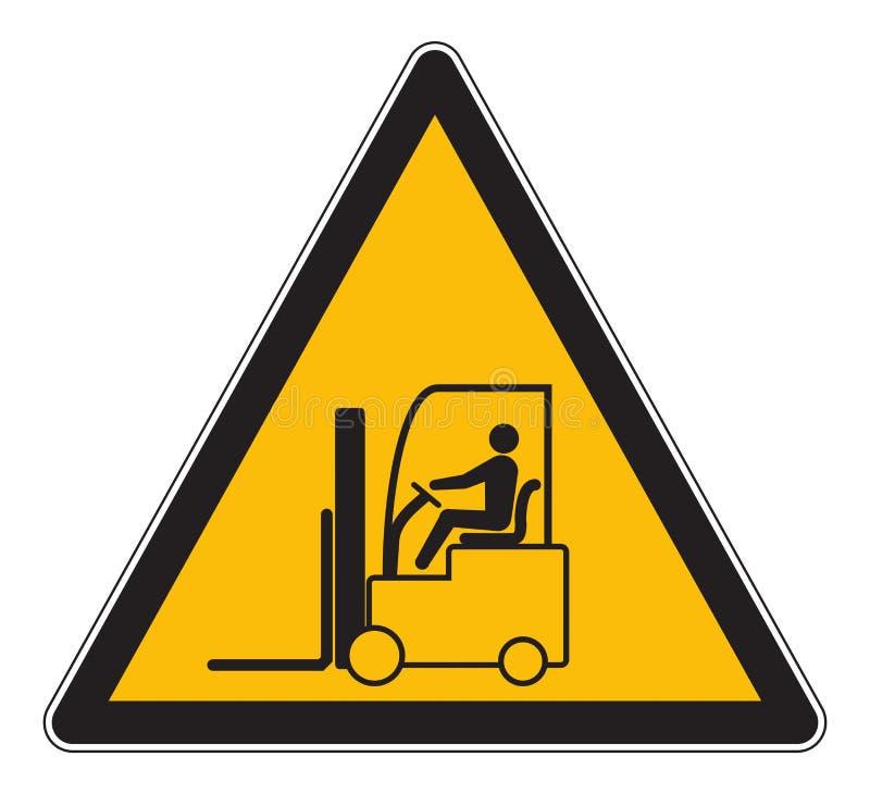 Zagrożenie znaka ostrzegawczego forklift ciężarówka ilustracja wektor