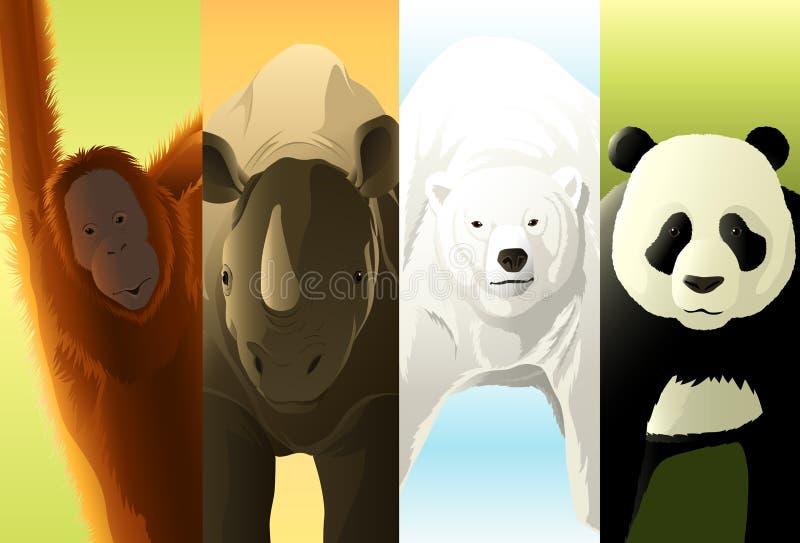 zagrożoni gatunki ilustracja wektor