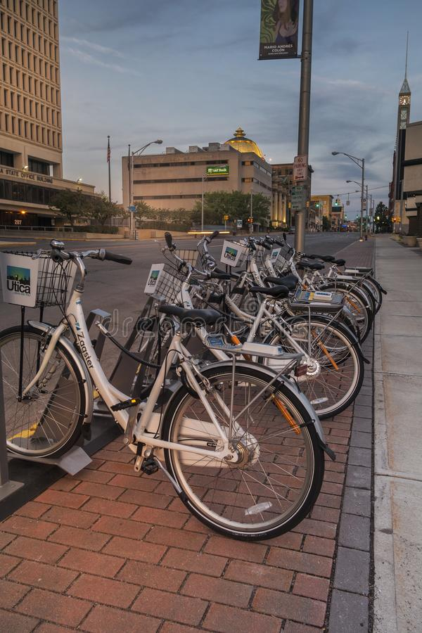 Zagster cykelaktie royaltyfri fotografi