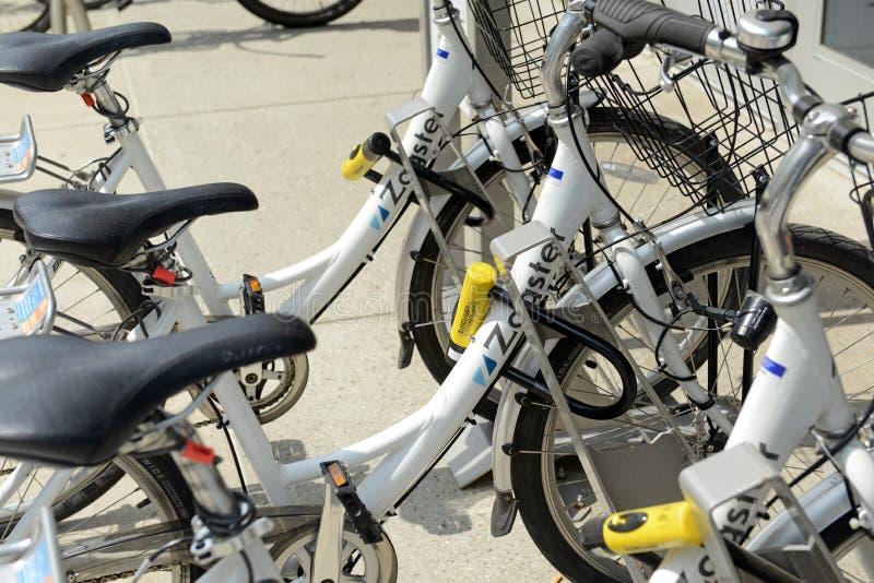 Zagster, un programme de part de bicyclette à Detroit, Michigan photos libres de droits