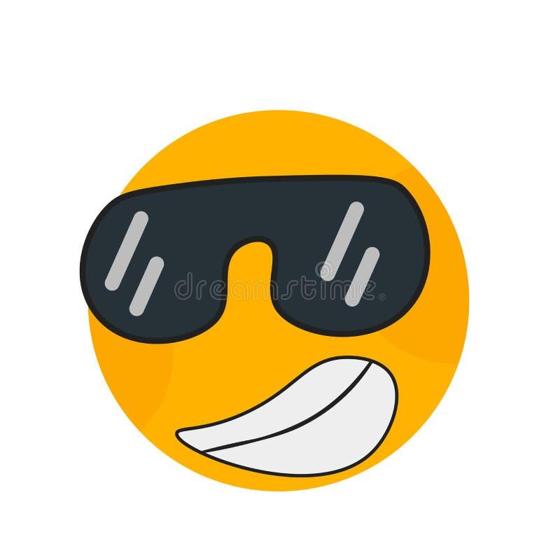 Zahipnotyzowany uśmiech ikony wektoru znak i symbol odizolowywający na białym tle, Hipnotyzujący uśmiechu logo pojęcie royalty ilustracja
