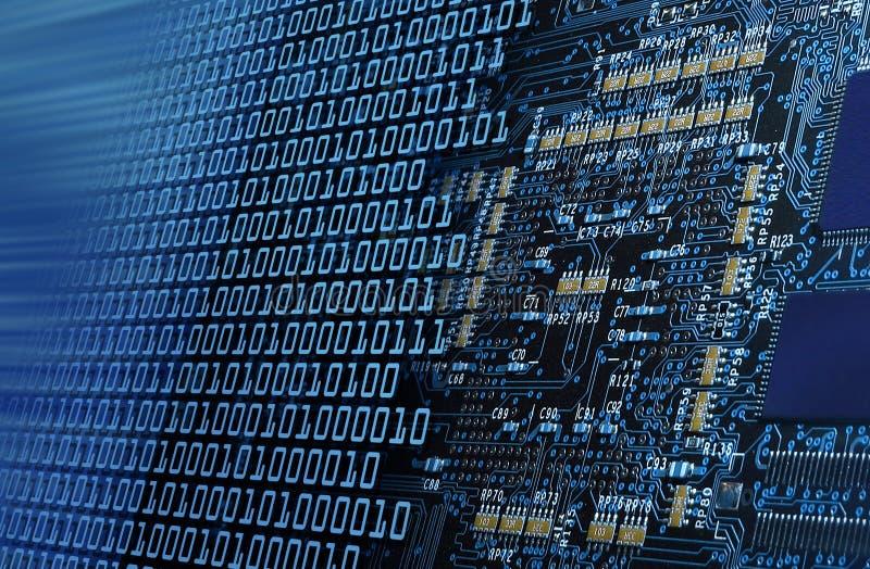 Zahl, die Computerkreisläufe bricht stockfotografie