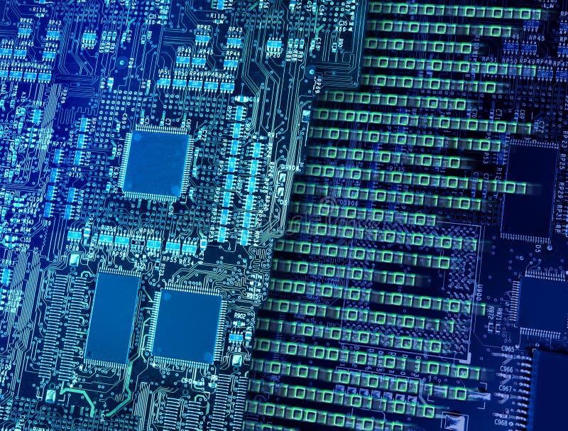 Zahl, die CPU-Kreisläufe bricht stockfoto