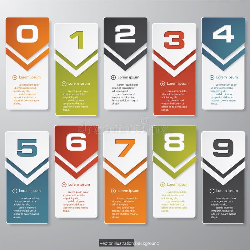 Zahl-Fahnenschablone des Designs saubere stock abbildung
