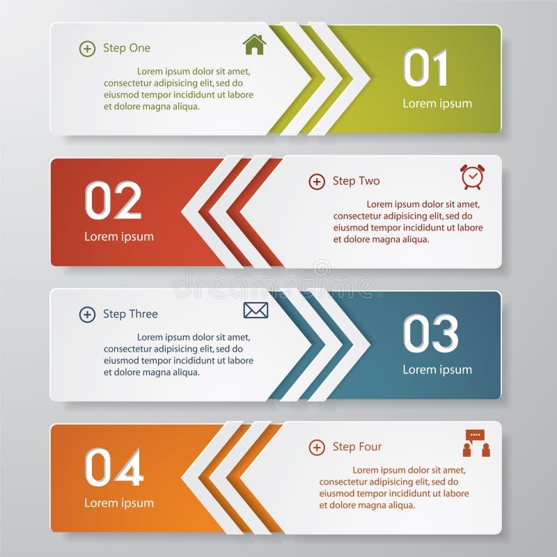 Zahl-Fahnenschablone des Designs saubere. lizenzfreie abbildung